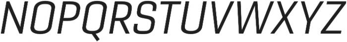 Gineso Ext Regular Italic otf (400) Font UPPERCASE