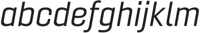 Gineso Ext Regular Italic otf (400) Font LOWERCASE
