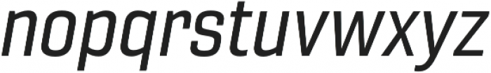 Gineso Norm Medium Italic otf (500) Font LOWERCASE