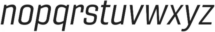Gineso Norm Regular Italic otf (400) Font LOWERCASE