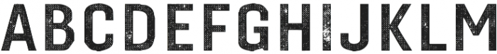 Gineso Titling Halftone Bold otf (700) Font UPPERCASE