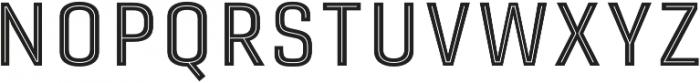 Gineso Titling Inline Medium otf (500) Font UPPERCASE