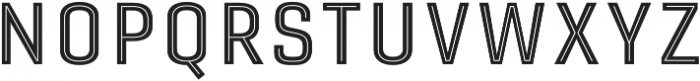 Gineso Titling Inline Medium otf (500) Font LOWERCASE
