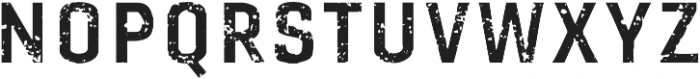 Gineso Titling Rough Bold otf (700) Font LOWERCASE