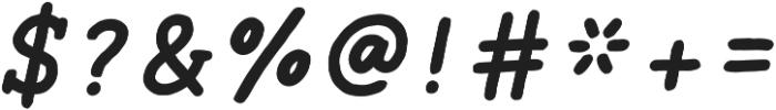 Ginger Typewriter Bold Italic otf (700) Font OTHER CHARS