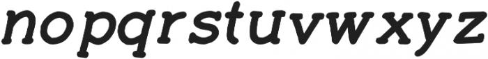 Ginger Typewriter Bold Italic otf (700) Font LOWERCASE
