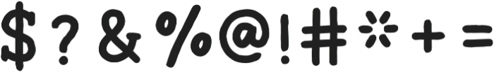 Ginger Typewriter Bold otf (700) Font OTHER CHARS