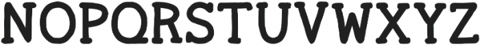 Ginger Typewriter Bold otf (700) Font UPPERCASE