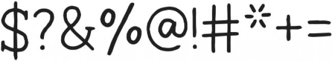 Ginger Typewriter Regular otf (400) Font OTHER CHARS
