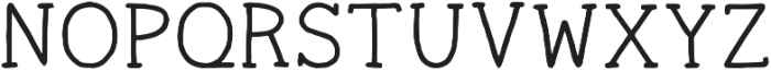Ginger Typewriter Regular otf (400) Font UPPERCASE