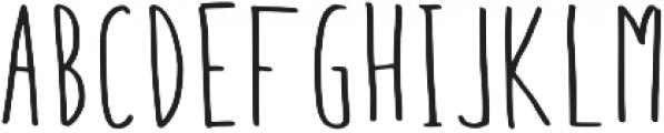 Gingera Regular otf (400) Font UPPERCASE