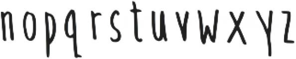 Gingera Regular otf (400) Font LOWERCASE