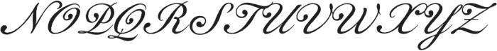 Gingertea Script otf (400) Font UPPERCASE