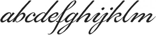 Gingertea Script otf (400) Font LOWERCASE