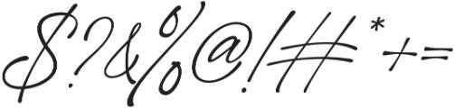 Girl Boss Script Slant Regular otf (400) Font OTHER CHARS