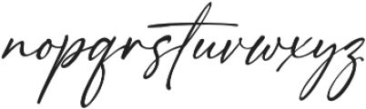 Girl Boss Script Slant Regular otf (400) Font LOWERCASE