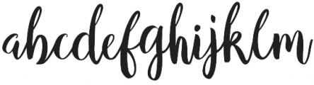 Girlboss Script Regular otf (400) Font LOWERCASE
