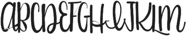 Girlfriend otf (400) Font UPPERCASE