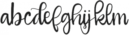 Girlfriend otf (400) Font LOWERCASE