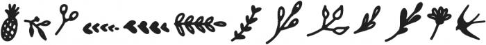 Girly Ornaments otf (400) Font LOWERCASE