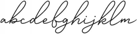 Gisellia Natural otf (400) Font LOWERCASE
