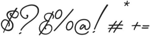 Gisellia Regular otf (400) Font OTHER CHARS
