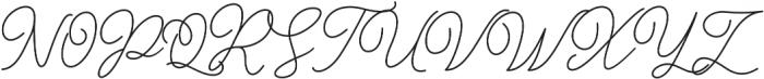 Gisellia Regular otf (400) Font UPPERCASE