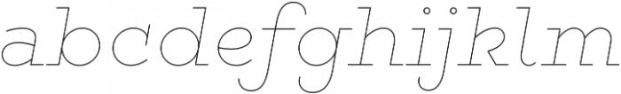 Gist Line Bold otf (700) Font LOWERCASE