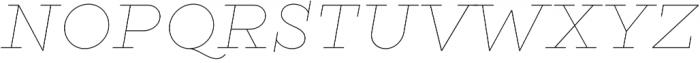 Gist Line Extrabold otf (700) Font UPPERCASE