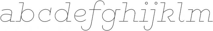 Gist Line Extrabold otf (700) Font LOWERCASE