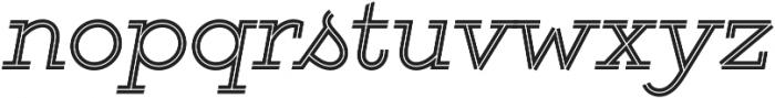 Gist Regular otf (400) Font LOWERCASE
