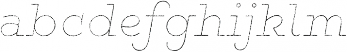 Gist Rough Exbold Line otf (700) Font LOWERCASE