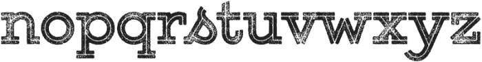 Gist Rough Upright Extrabold Two otf (700) Font LOWERCASE