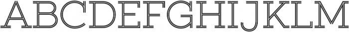 Gist Upright Light otf (300) Font UPPERCASE