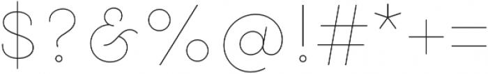 Gist Upright Line Extrabold otf (700) Font OTHER CHARS