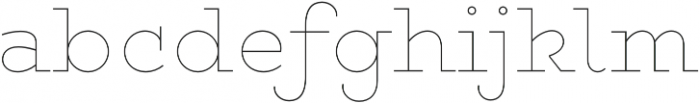 Gist Upright Line Extrabold otf (700) Font LOWERCASE