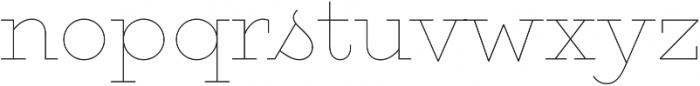 Gist Upright Line Light otf (300) Font LOWERCASE