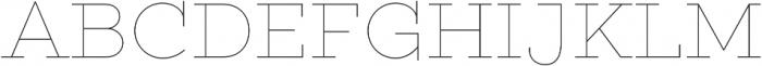 Gist Upright Line Regular otf (400) Font UPPERCASE