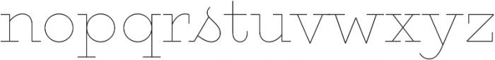 Gist Upright Line Regular otf (400) Font LOWERCASE
