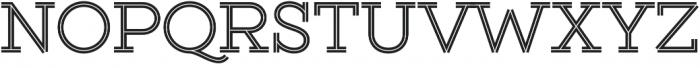 Gist Upright Regular otf (400) Font UPPERCASE