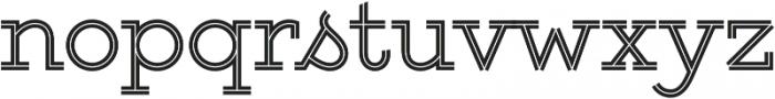Gist Upright Regular otf (400) Font LOWERCASE