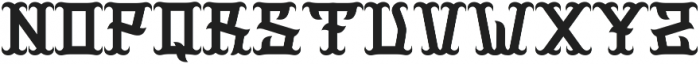 ginger otf (400) Font UPPERCASE