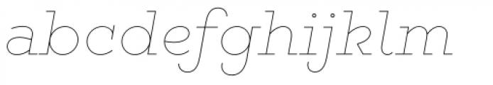 Gist Line Light Font LOWERCASE