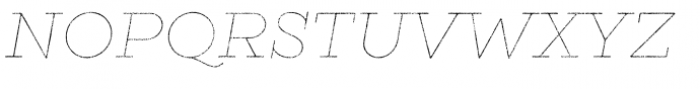 Gist Rough Light Line Font UPPERCASE