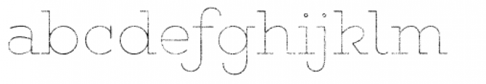 Gist Rough Upright Light Line Font LOWERCASE