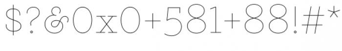 Gist Upright Line Light Font OTHER CHARS