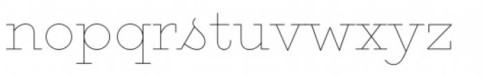 Gist Upright Line Light Font LOWERCASE