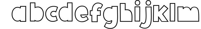 Giggle Glory, a fun block font 1 Font LOWERCASE
