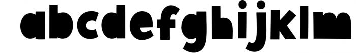 Giggle Glory, a fun block font Font LOWERCASE