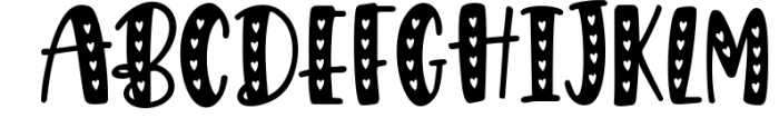 Giggle Hearts, An adorable valentine day font 1 Font UPPERCASE